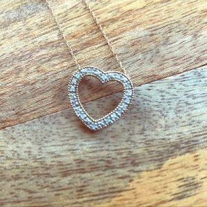 Jewelry - Diamond Heart Pendant Necklace